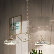 Chandelier Cooking Barbell Wrought Iron And Ceramics Classic Gold
