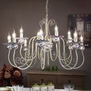 Suspended Lights Wrought Iron And Ceramics White Classique