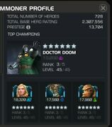 Mcoc Marvel Contest Of Champions Account.almost 28 6 R3..13.706k Shang Chi 6r3