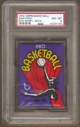 1972 Topps Basketball Unopened Wax Pack Psa 8 Nm-mt Rick Barry Back Erving Rc