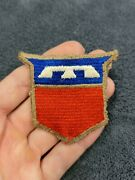 Ww2 Us Army 76th Division Patch Tan Border Patch French/english Made Very Scarce