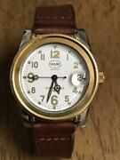 Mhr Mahara Geneve Automatic Made In 1990 18k Gold Analog Wristwatch For Adult