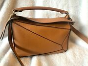 Loewe Small Puzzle Bag In Light Caramel In Soft Grained Calfskin Leather