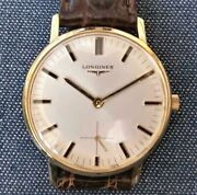 Longines Swiss K18 Gold 17 Stones O H Finished Menand039s Analog Watch With Box