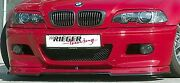 Rieger Oem Matte Black Front Spoiler Lip Add-on For Bmw E46 M3 2001-2006 New