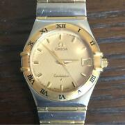 ​omega Constellation Ref.1212.10.00 Gold Dial Stainless Steel Menand039s Watch