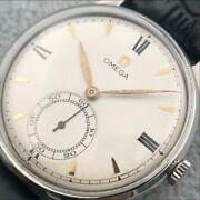Omega Swiss 38mm White Dial Black Strap Men's Watch Shipped From Japan