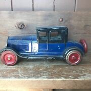 Vintage 1924 Large Dayton Friction Pressed Steel Coupe Deluxe No 500 Super Rare