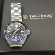 Tag Heuer Formula 1 Calibre7 Gmt Menand039s Watch With Box Shipped From Japan