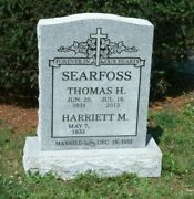 Cemetery Companion Headstone 24 X 6 X 30 Includes Engraving Free Shipping