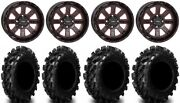 System 3 St-4 14 Wheels Red 29.5 Swamp Lite Tires Can-am Defender