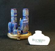 France Limoges Box New York City Twin Towers By Rochard