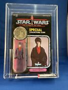 Potf 92 Back Afa 85 Nm+ Clear Imperial Dignitary Vintage Kenner 1985 Star Wars