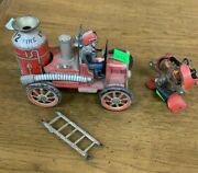 Modern Toys Marx Tin Litho, Fire Engine Steel Part Of Steam Engine