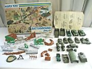 1960-70s Marxs Toys Battleground Play Set 4756 Incomplete Many Extras
