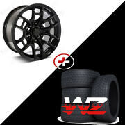 17 Flow Forged Gloss Black Wheels W/tires Fits Toyota Tacoma 4runner Fj Cruiser