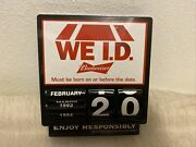 Budweiser We Id Manual Sign Clock Must Be Born On Or Before This Date No Lights