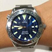 omega Seamaster Professional 300m/100ft Blue Wave Stainless Steel Menand039s Watch
