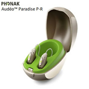 2 Brand New Phonak Audeo Paradise P30-r Hearing Aids + Free Mini Charger