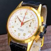 Baume Mercier Geneve Shockproof 17 Jewels Antique Analog 1950and039s Menand039s Watch