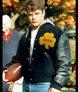 University Of Notre Dame Rudy Irish Wool And Real Leather Jacket