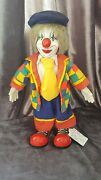 The House Of Valentina Bisque Porcelain Clown Doll Antique Collectable