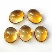 Wholesale Lot Natural Citrine Oval Cabochon Loose Gemstones 9x11mm To 12x16mm