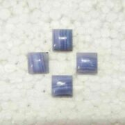 Natural Blue Lace Agate Loose Gemstones Cabochon Square Shape Size 16mm To 20mm