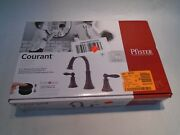 New Pfister Courant Lf-049-coyy Bronze Widespread Bathroom Sink Lav Faucet