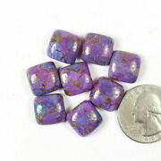 Natural Purple Copper Turquoise Loose Gemstones 21mm To 25mm Cushion Cabochon