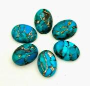 Natural Blue Copper Turquoise Oval Cabochon 13x18mm To 15x20mm Aaa Quality