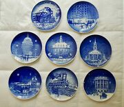 7 Bing And Grondahl Small Plates Christmas In America 1986-1990 And 1992 1993