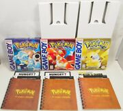 Pokemon Red Blue And Yellow Version Nintendo Game Boy Boxes Manuals Inserts Only