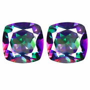 Natural Mystic Opal Loose Gemstones Cushion Shape Facted Cut 16mm To 20mm