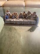 Valencia Roman Collection 1997 Jesus And The Last Supper Porcelain Music Box