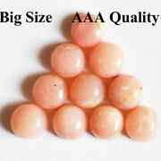 Natural Pink Opal Round Cabochon Loose Gemstones For Jewelry Making 11mm To 15mm