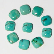 Natural Tibetan Turquoise Loose Gemstones 21mm To 25mm Cushion Shape Cabochon