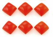 Wholesale Lot Natural Carnelian Square Cab Loose Gemstones 16x16mm To 20x20mm