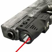 Tactical Flashlight With Internal Red Laser Sight For Handguns 2 In 1 Laser
