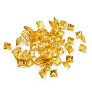 Natural Yellow Citrine Square Rose Cut Size 11x11mm To 12x12mm Loose Gemstone