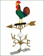 Weather Vane Rooster Heavy Duty Cast Aluminum Painted Complete Set Barn Stable