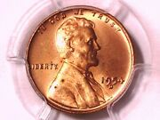 1954 D Lincoln Wheat Cent Penny Pcgs Ms 66 Rd 26238514