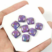 Natural Purple Copper Turquoise Loose Gemstones 16mm To 20mm Cushion Cabochon