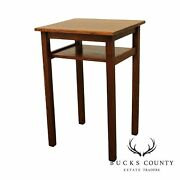 Stickley Brothers Antique Mission Oak Telephone Side Table