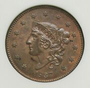 1837 Large Cent Ngc Ms 63 Rb