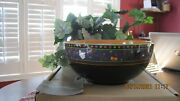 Longaberger Pottery Happy Halloween Large Party Boo Bowl W/box Treats, Serving