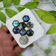 Natural Labradorite Hexagon Cabochon Loose Gemstone 16mm To 20mm Blue Fire