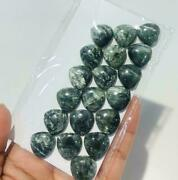Natural Seraphinite Cabochon Loose Gemstones Trillion Shape Size In 16mm To 20mm