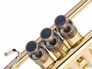 Trumpet Trim Kit For Yamaha Heavy Antique Bronze Lacquer With Stones Nuummite