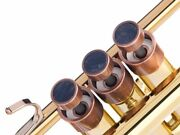 Trumpet Trim Kit For Yamaha Heavy Antique Copper Lacquer With Stones Nuummite